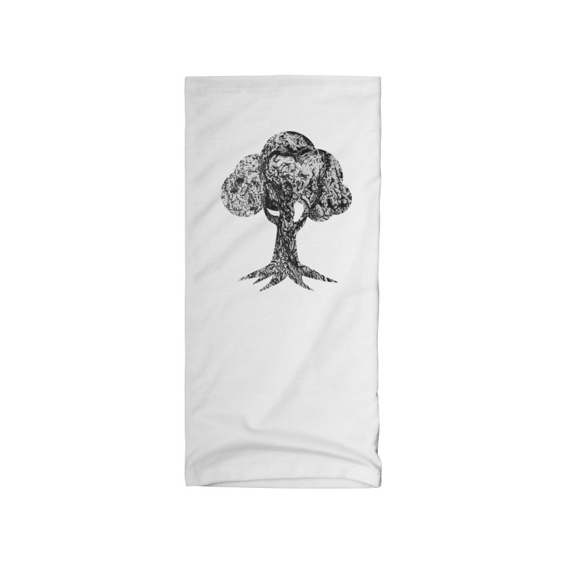 """""""charcoal tree bark 4"""" filled silhouette with white background Accessories Neck Gaiter by Miss Jackie Creates"""