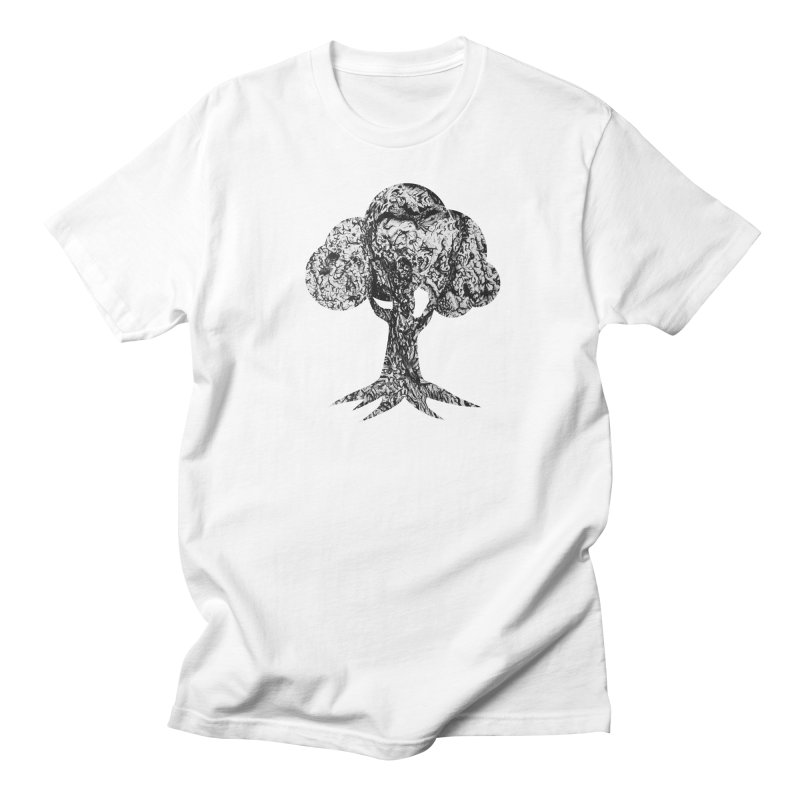 """""""charcoal tree bark 4"""" filled silhouette with white background Men's T-Shirt by Miss Jackie Creates"""