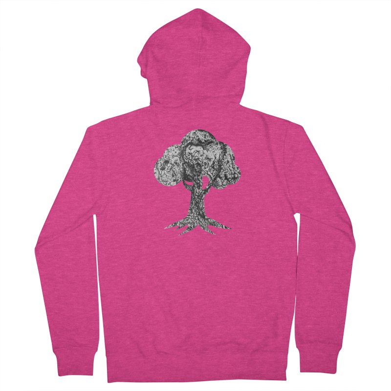"""""""charcoal tree bark 4"""" filled silhouette with white background Women's Zip-Up Hoody by Miss Jackie Creates"""