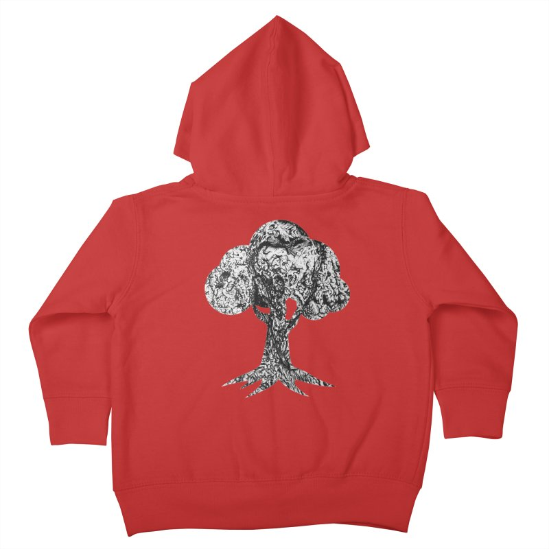 """""""charcoal tree bark 4"""" filled silhouette with white background Kids Toddler Zip-Up Hoody by Miss Jackie Creates"""