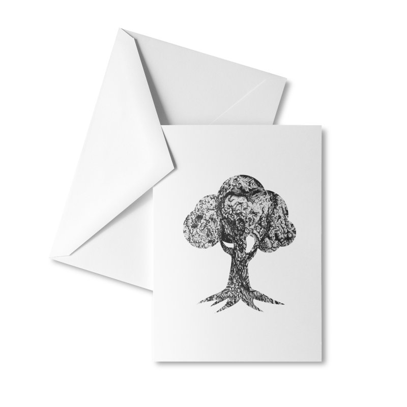 """""""charcoal tree bark 4"""" filled silhouette with white background Accessories Greeting Card by Miss Jackie Creates"""