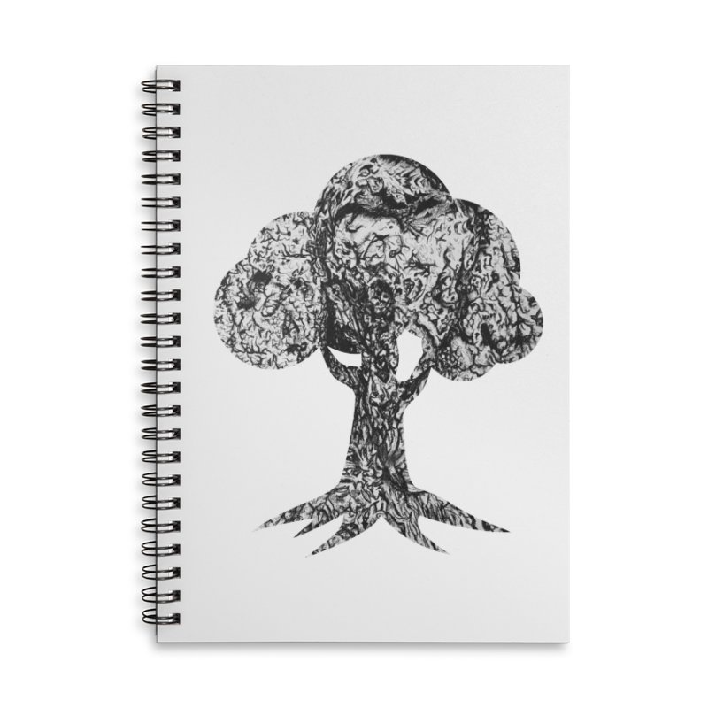 """""""charcoal tree bark 4"""" filled silhouette with white background Accessories Notebook by Miss Jackie Creates"""