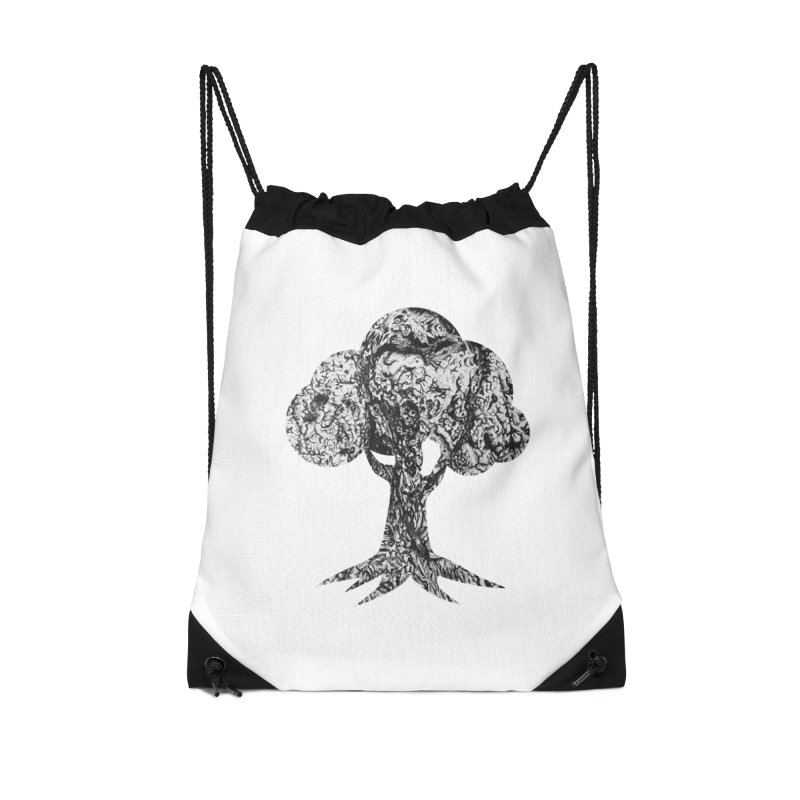 """""""charcoal tree bark 4"""" filled silhouette with white background Accessories Bag by Miss Jackie Creates"""