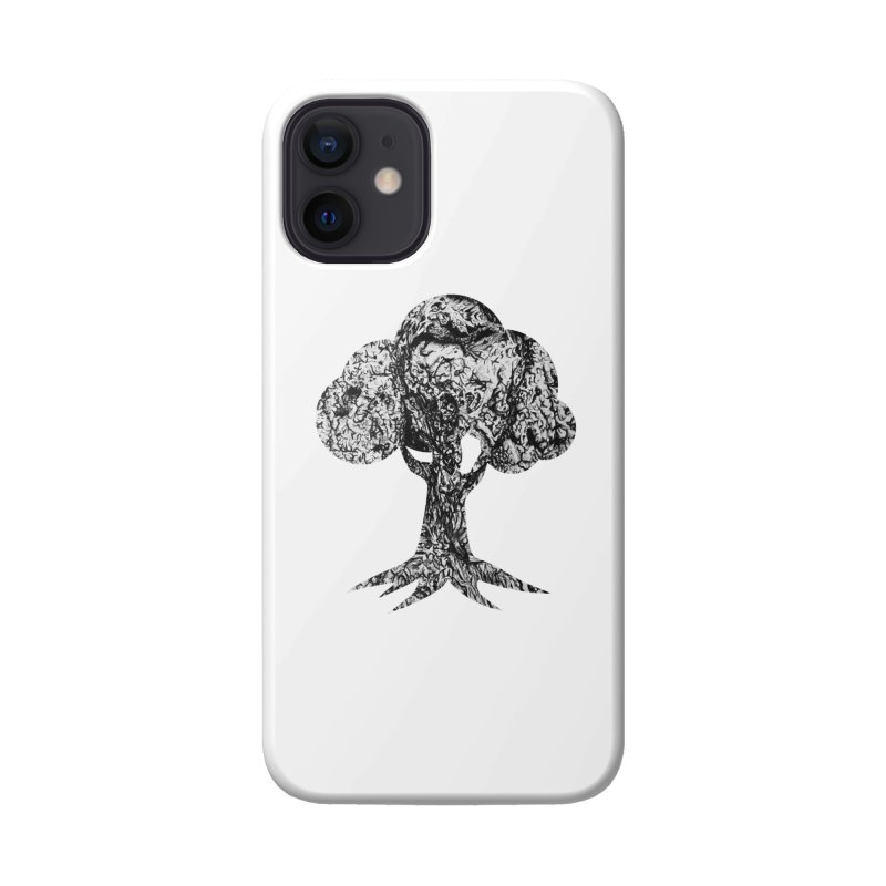 """""""charcoal tree bark 4"""" filled silhouette with white background Accessories Phone Case by Miss Jackie Creates"""