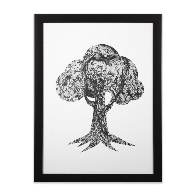 """""""charcoal tree bark 4"""" filled silhouette with white background Home Framed Fine Art Print by Miss Jackie Creates"""