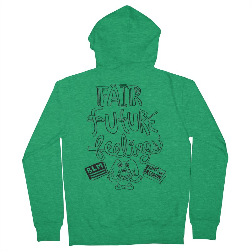 BLM fair future feelings Yogi Monster Fergie Women's Zip-Up Hoody by Miss Jackie Creates