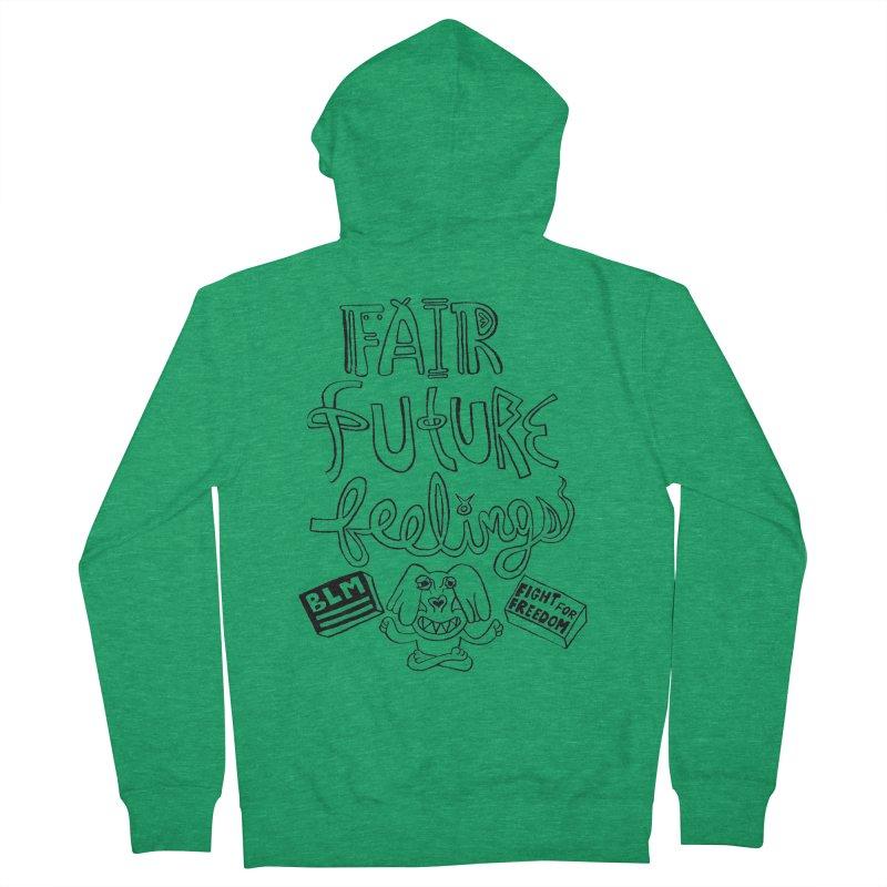 BLM fair future feelings Yogi Monster Fergie Men's Zip-Up Hoody by Miss Jackie Creates