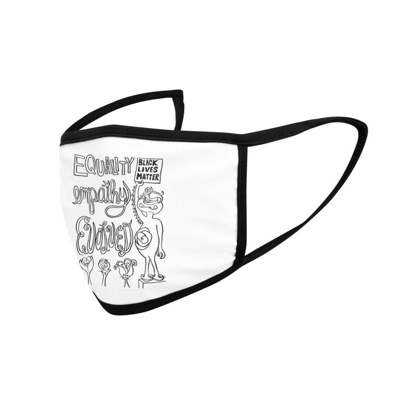 BLM equality empathy evolved with Yogi Monster Ellie Accessories Face Mask by Miss Jackie Creates