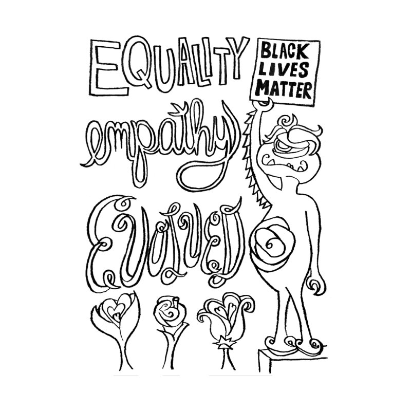 BLM equality empathy evolved with Yogi Monster Ellie Accessories Skateboard by Miss Jackie Creates