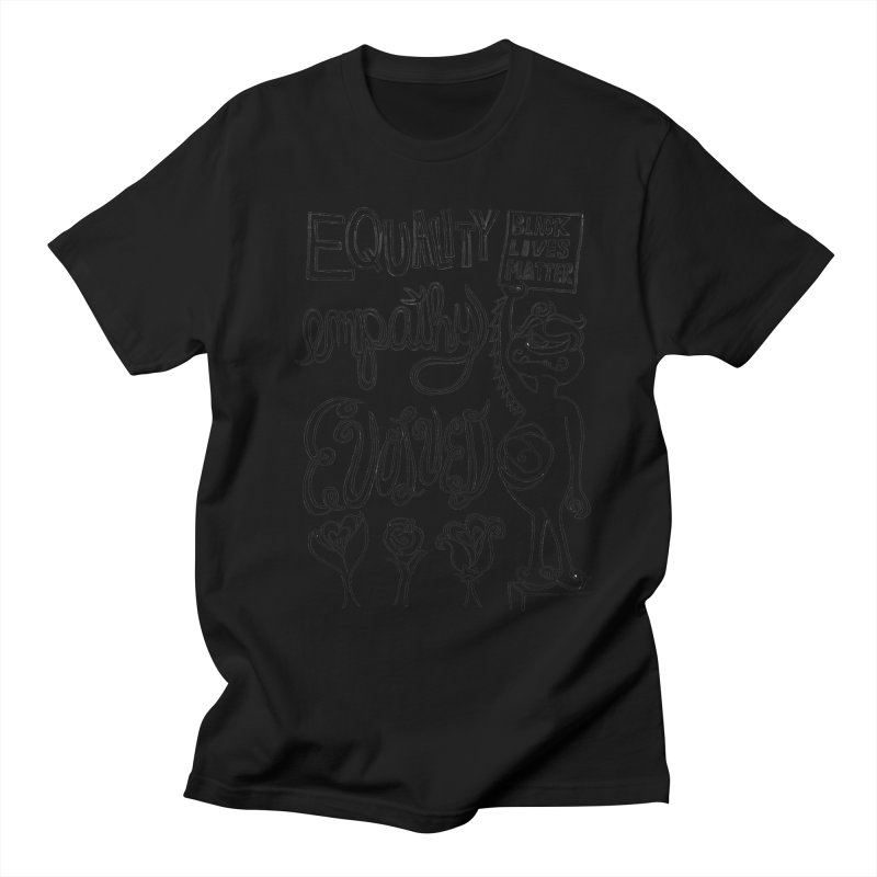 BLM equality empathy evolved with Yogi Monster Ellie Men's T-Shirt by Miss Jackie Creates