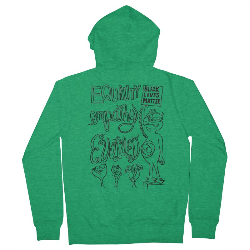 BLM equality empathy evolved with Yogi Monster Ellie Men's Zip-Up Hoody by Miss Jackie Creates