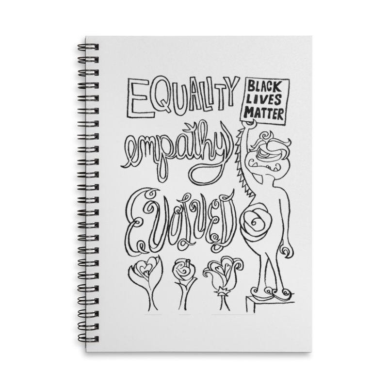 BLM equality empathy evolved with Yogi Monster Ellie Accessories Notebook by Miss Jackie Creates