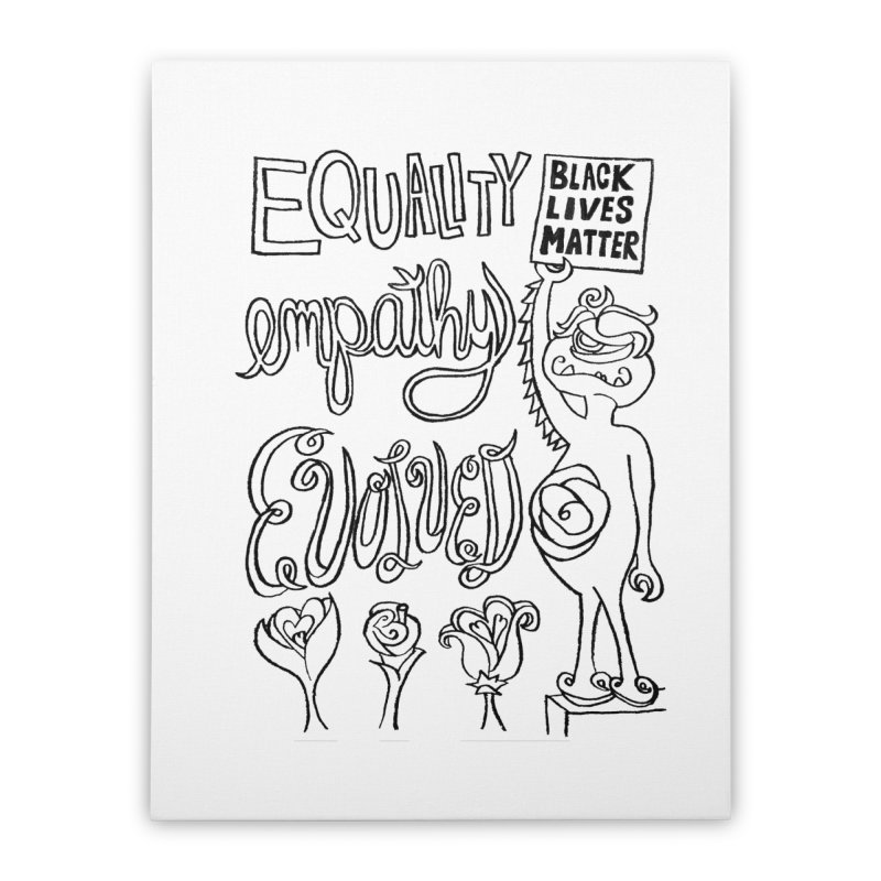 BLM equality empathy evolved with Yogi Monster Ellie Home Stretched Canvas by Miss Jackie Creates