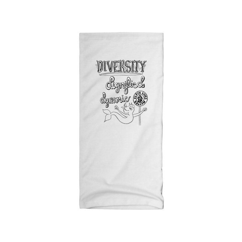 BLM diversity dignified dynamic with Yogi Monster Dexter Accessories Neck Gaiter by Miss Jackie Creates