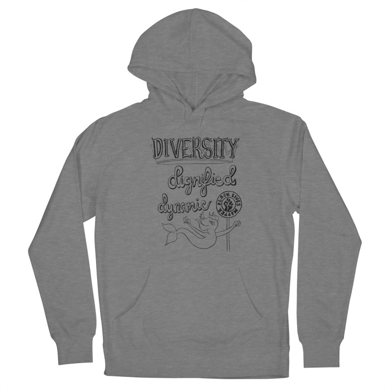 BLM diversity dignified dynamic with Yogi Monster Dexter Women's Pullover Hoody by Miss Jackie Creates