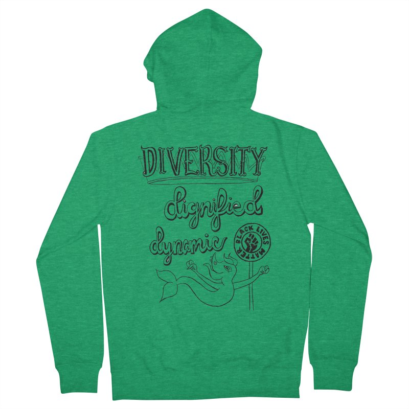 BLM diversity dignified dynamic with Yogi Monster Dexter Women's Zip-Up Hoody by Miss Jackie Creates