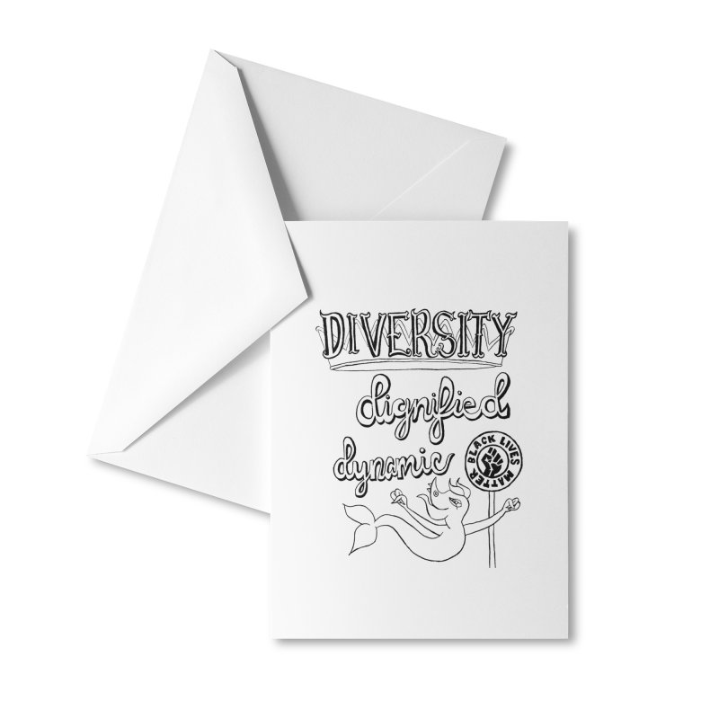 BLM diversity dignified dynamic with Yogi Monster Dexter Accessories Greeting Card by Miss Jackie Creates