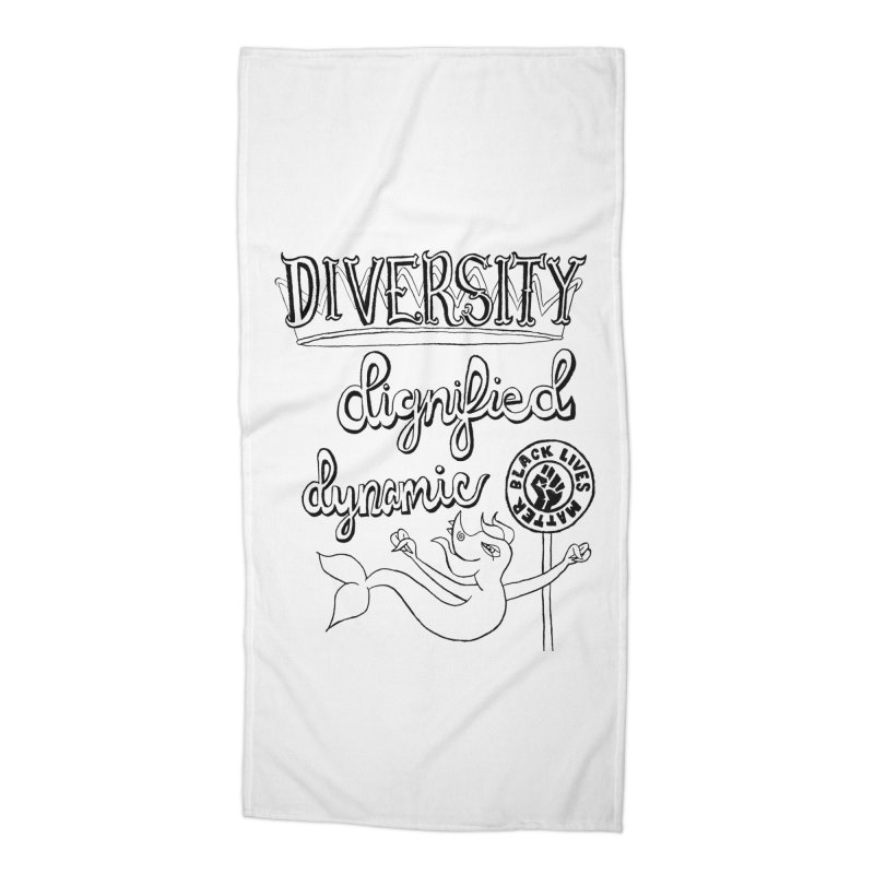 BLM diversity dignified dynamic with Yogi Monster Dexter Accessories Beach Towel by Miss Jackie Creates
