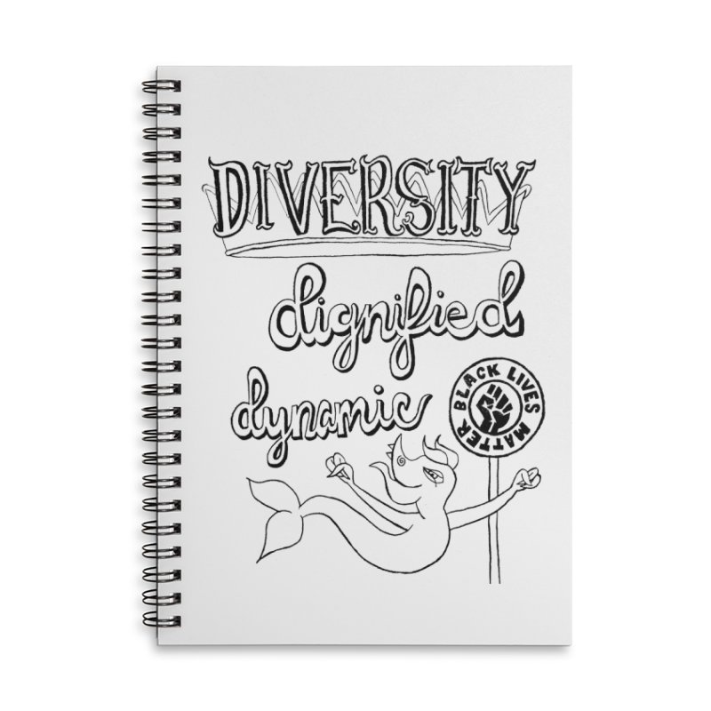 BLM diversity dignified dynamic with Yogi Monster Dexter Accessories Notebook by Miss Jackie Creates