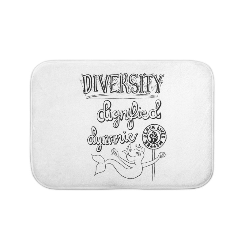 BLM diversity dignified dynamic with Yogi Monster Dexter Home Bath Mat by Miss Jackie Creates