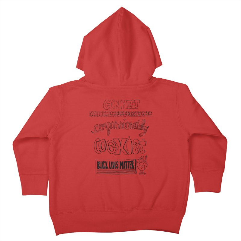 BLM connect compassionately coexist with Yogi Monster Cara Kids Toddler Zip-Up Hoody by Miss Jackie Creates