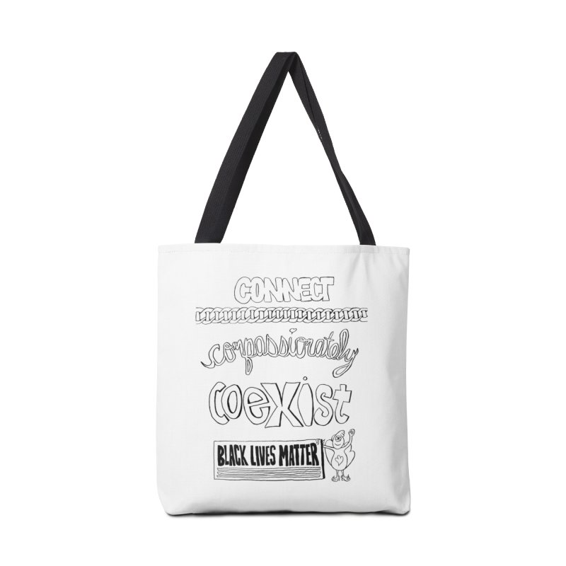 BLM connect compassionately coexist with Yogi Monster Cara Accessories Bag by Miss Jackie Creates