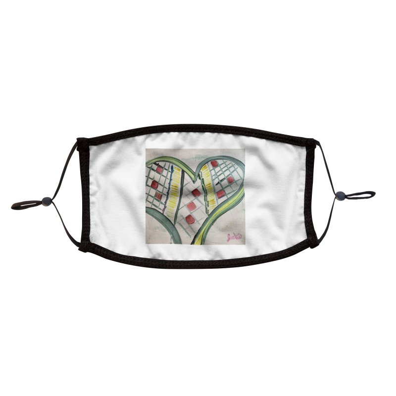 Heart Collaboration Canvas Accessories Face Mask by Miss Jackie Creates