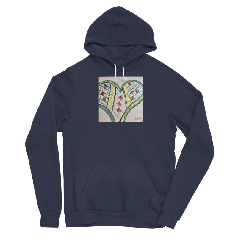 Heart Collaboration Canvas Men's Pullover Hoody by Miss Jackie Creates