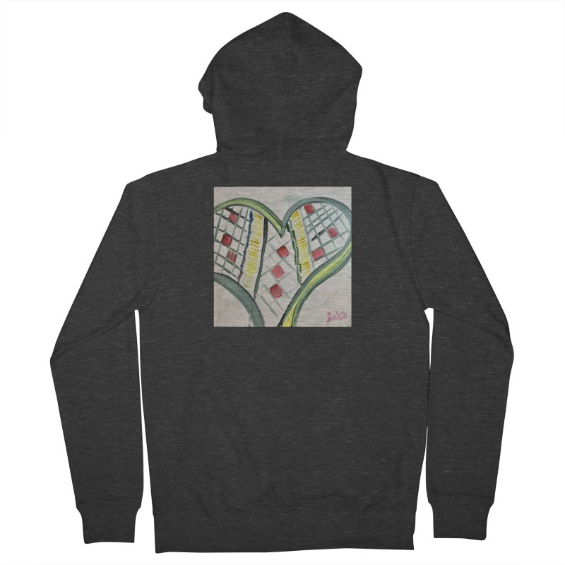 Heart Collaboration Canvas Women's Zip-Up Hoody by Miss Jackie Creates