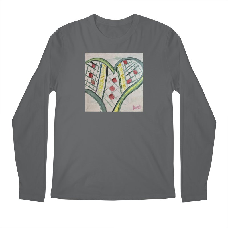 Heart Collaboration Canvas Men's Longsleeve T-Shirt by Miss Jackie Creates
