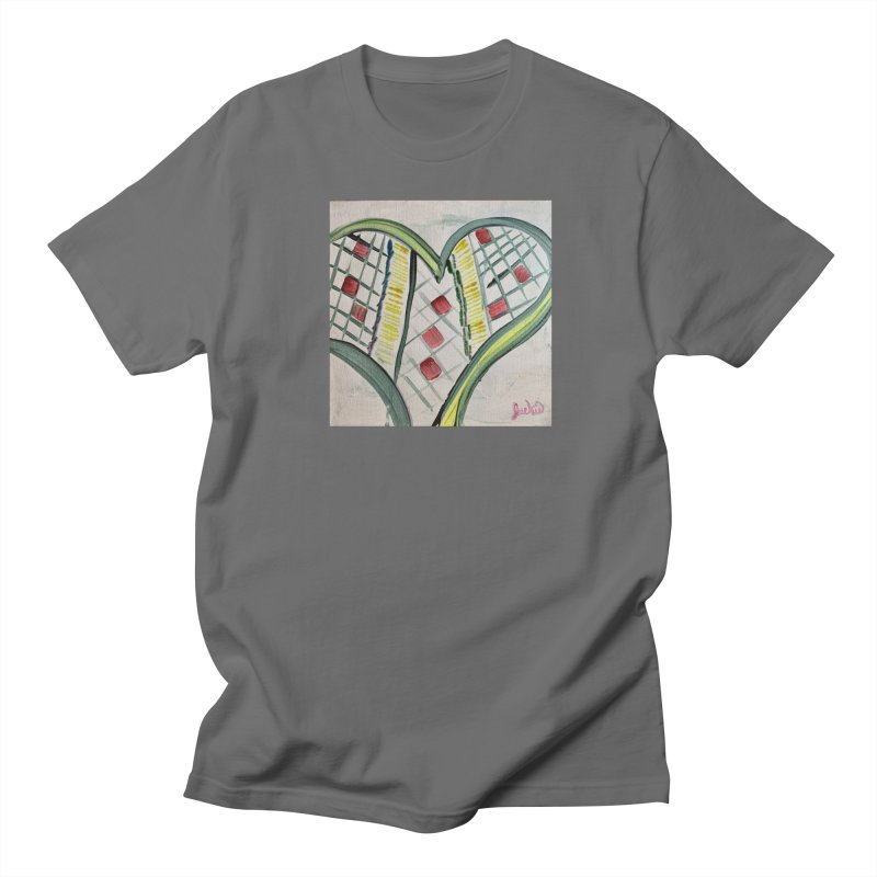 Heart Collaboration Canvas Men's T-Shirt by Miss Jackie Creates