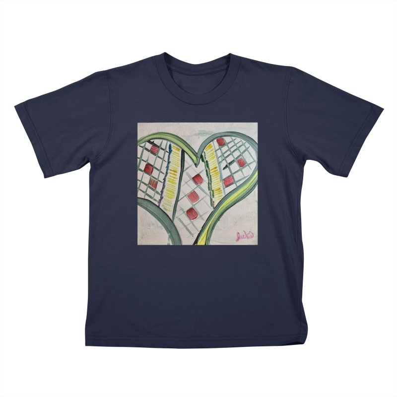 Heart Collaboration Canvas Kids T-Shirt by Miss Jackie Creates