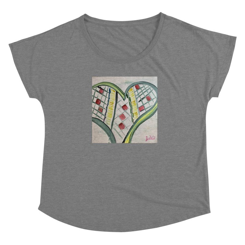 Heart Collaboration Canvas Women's Scoop Neck by Miss Jackie Creates