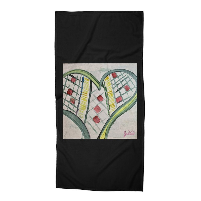 Heart Collaboration Canvas Accessories Beach Towel by Miss Jackie Creates
