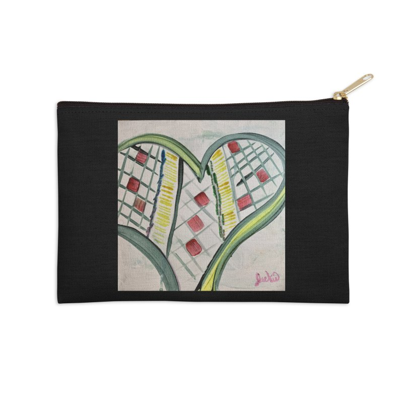 Heart Collaboration Canvas Accessories Zip Pouch by Miss Jackie Creates