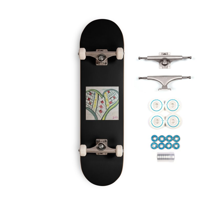 Heart Collaboration Canvas Accessories Skateboard by Miss Jackie Creates