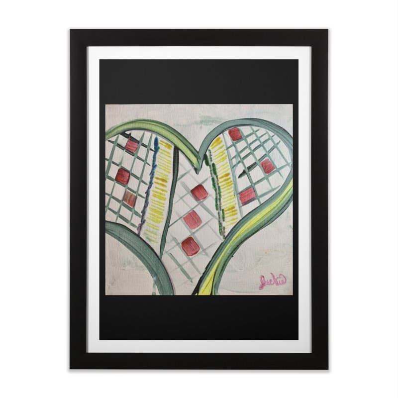 Heart Collaboration Canvas Home Framed Fine Art Print by Miss Jackie Creates