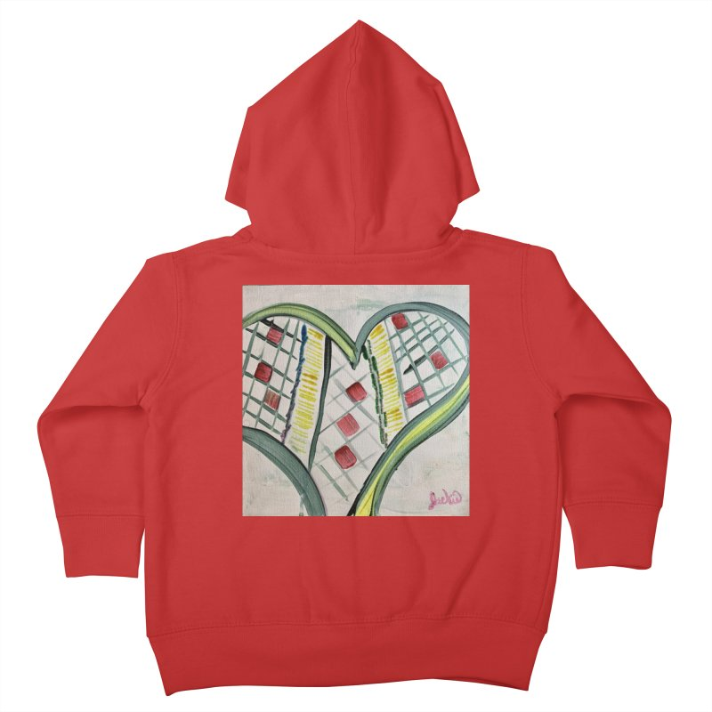 Heart Collaboration all around Kids Toddler Zip-Up Hoody by Miss Jackie Creates