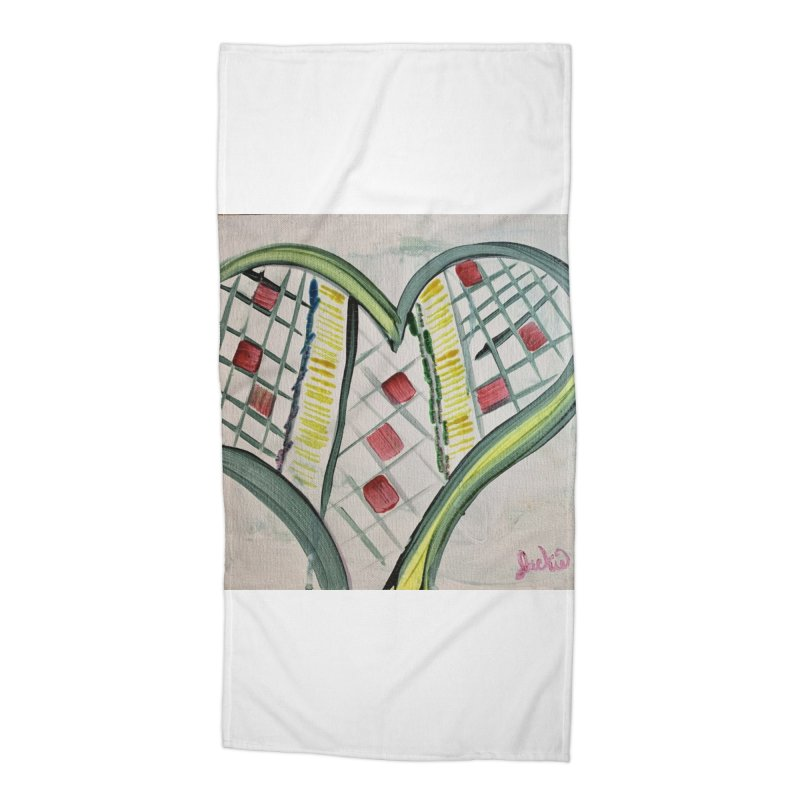 Heart Collaboration all around Accessories Beach Towel by Miss Jackie Creates