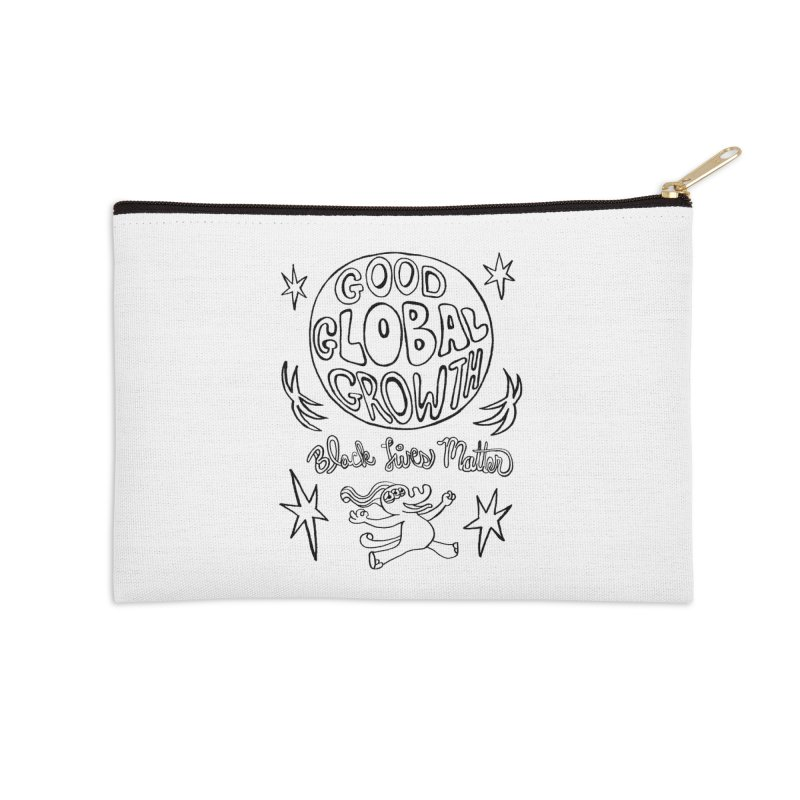 BLM Good Global Growth Accessories Zip Pouch by Miss Jackie Creates