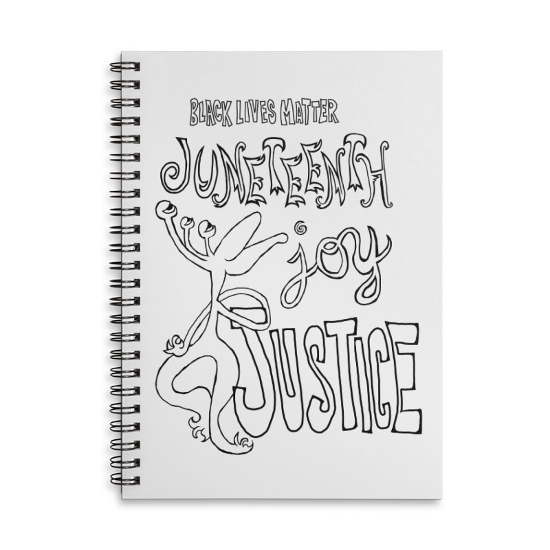 BLM Juneteenth Joy Justice Accessories Notebook by Miss Jackie Creates