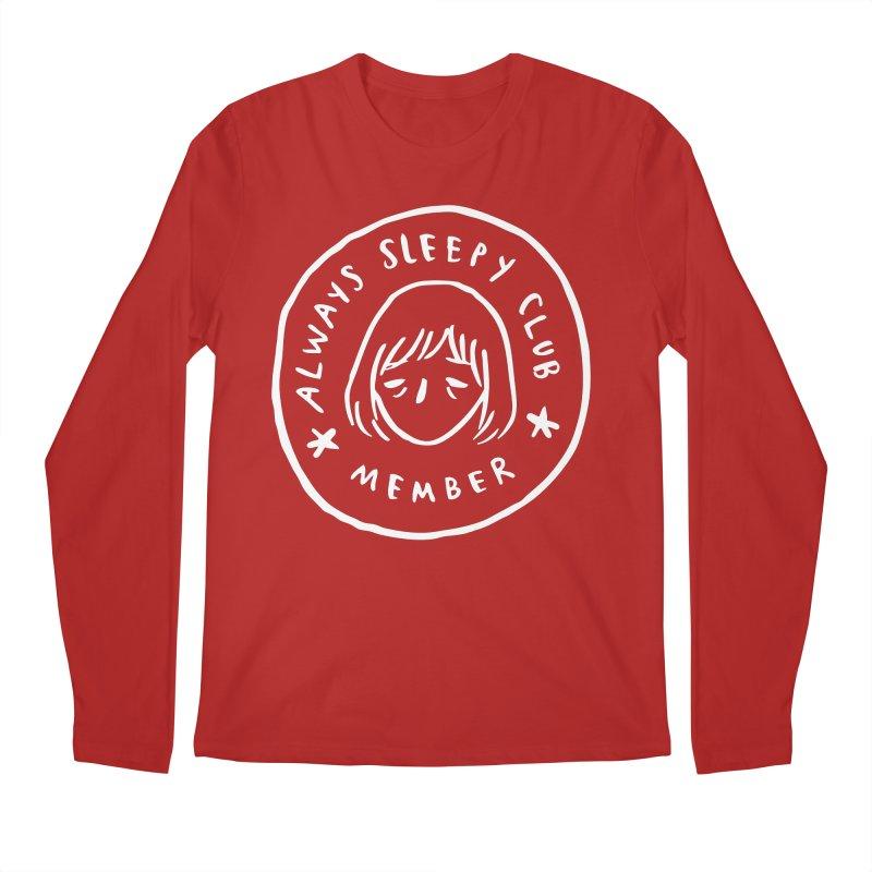 Always sleepy club Men's Longsleeve T-Shirt by Miss Kiwi