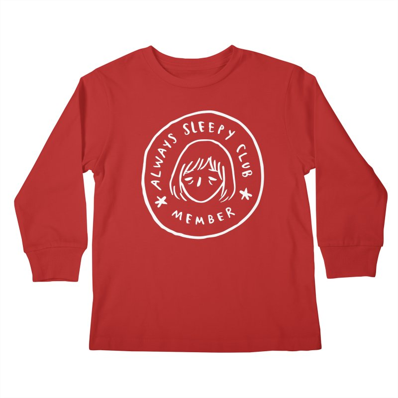 Always sleepy club Kids Longsleeve T-Shirt by Miss Kiwi
