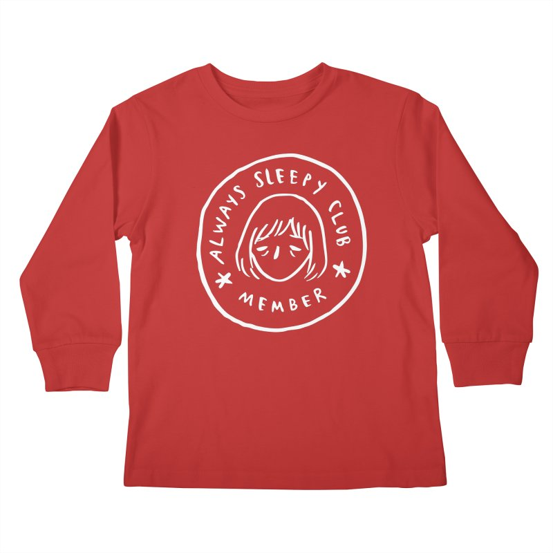 Always sleepy club Kids Longsleeve T-Shirt by Miss Kiwi