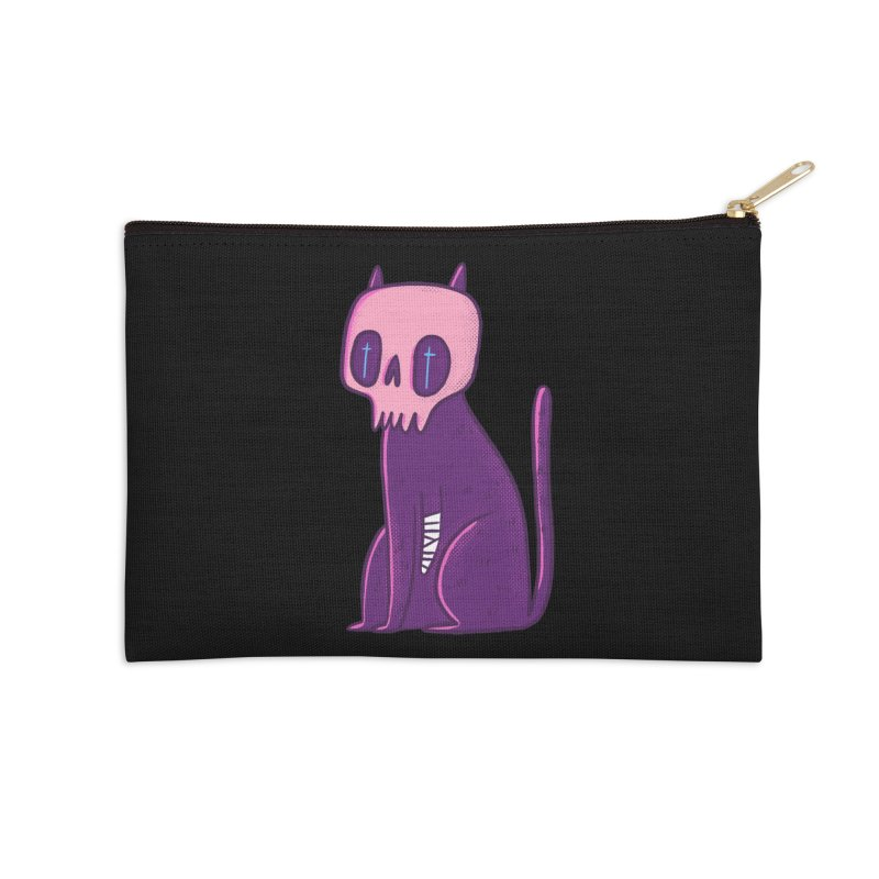 Kitty kitty Accessories Zip Pouch by Miss Kiwi