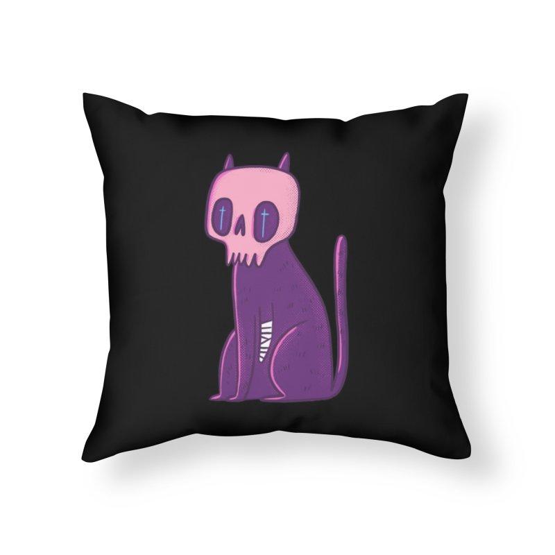 Kitty kitty Home Throw Pillow by Miss Kiwi