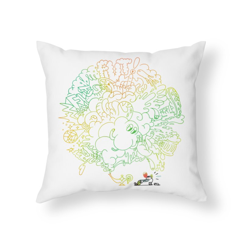 FULLBALL! Home Throw Pillow by Mr.ED'store