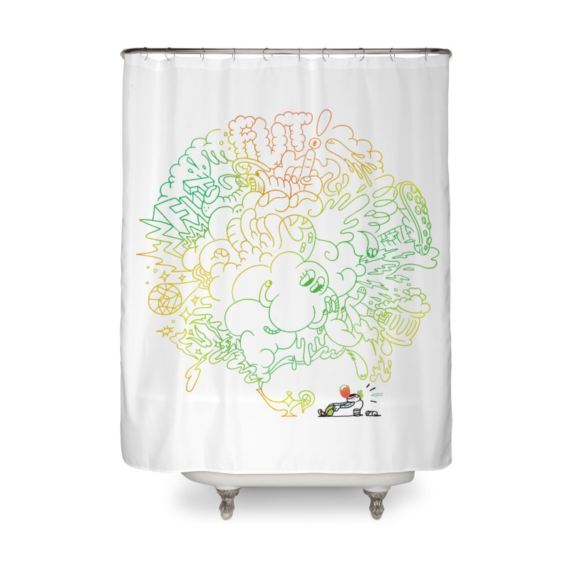 FULLBALL! Home Shower Curtain by Mr.ED'store