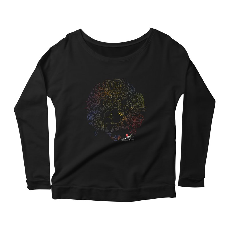 FULLBALL NITES! Women's Scoop Neck Longsleeve T-Shirt by Mr.ED'store