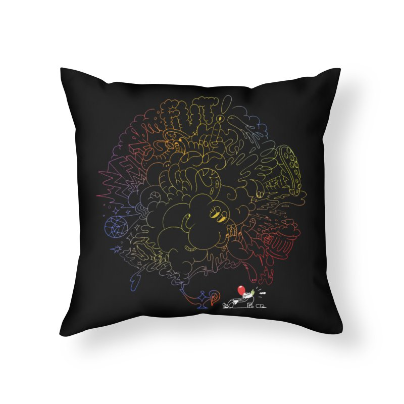 FULLBALL NITES! Home Throw Pillow by Mr.ED'store